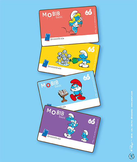 Smurf the new MOBIB Cards!