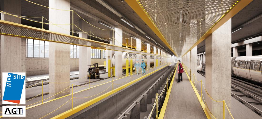 Une vue 3D du futur dépôt
