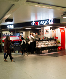 Shops in our underground stations