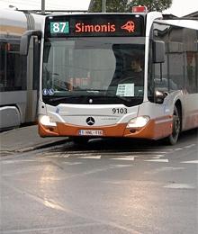 Bus 87 – travaux avenue des Myrtes