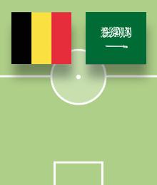 Wedstrijd België – Saoedi-Arabië