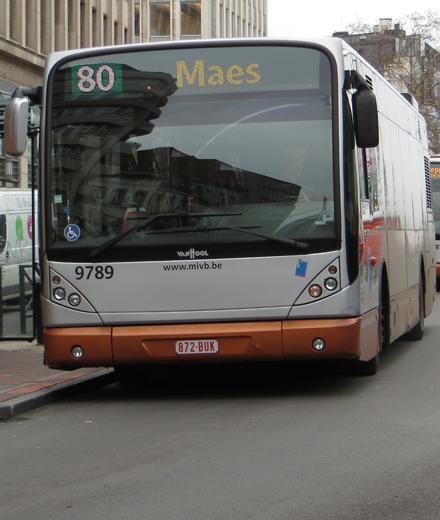 Bus 34, 64, 80, Noctis - arrêt Porte de Namur déplacé.