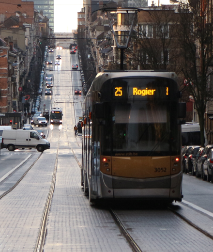 Tram 25, 62 - interruption entre Rogier / Thomas et Meiser