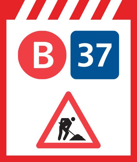 Bus 37 - omleiding Coghen ↔ Beeldhouwers