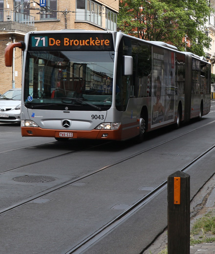Bus 71 - déviation Etangs d'Ixelles ↔ Buyl