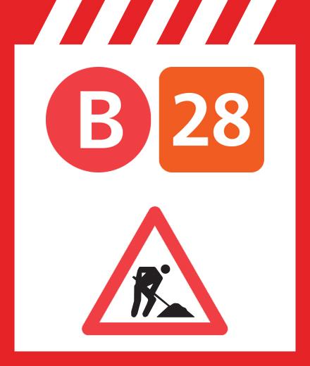 Bus 28 - interruption Voot ↔ Konkel