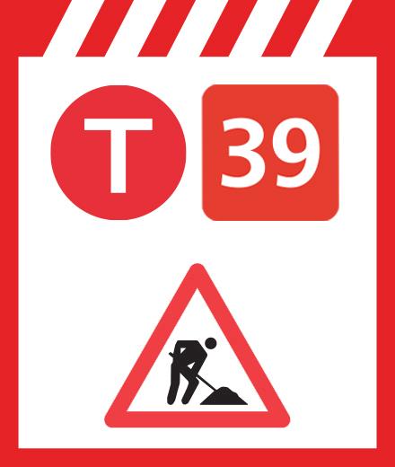 Tram 39 - onderbreking