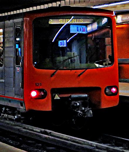 Metro 2 6 – station Munthof gesloten