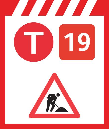 Tram 19 – interruption