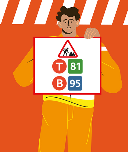 Tram 81, bus 95 – interruption et déviation
