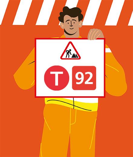 Tram 92 - interruption