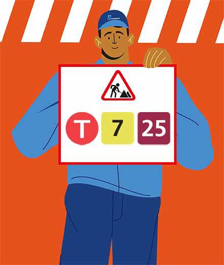 Tram 7, 25 – interruption