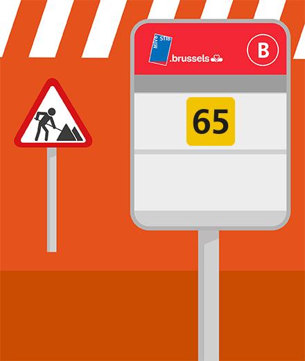 Bus 65 - déviation à Machelen