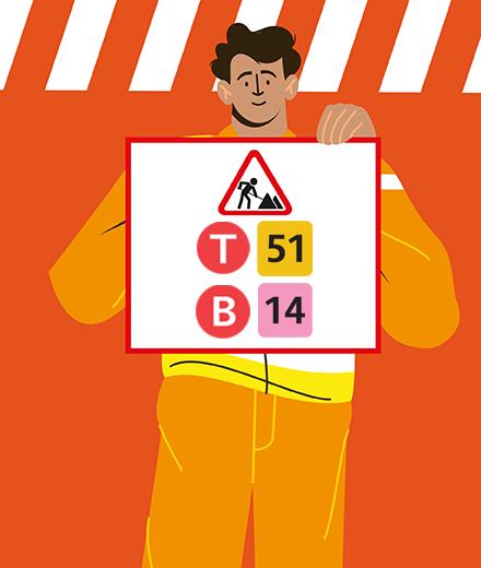 Tram 51, bus 14 – interruption