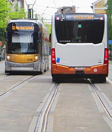 Tram 32, 82, bus 49, 50 – werkzaamheden tussen Koningslaan en Drukkerij