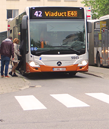 bus 29, 42, 45, N05 - réaménagement du terminus Roodebeek