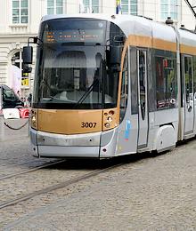 Tram 92, 93 - bezoek van President Macron